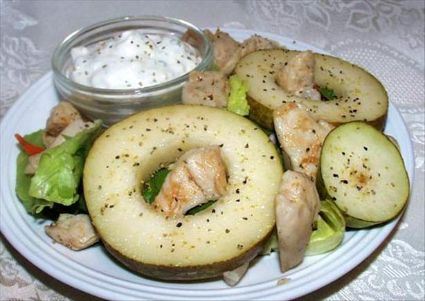 Chicken, Pear and Blue Cheese Salad