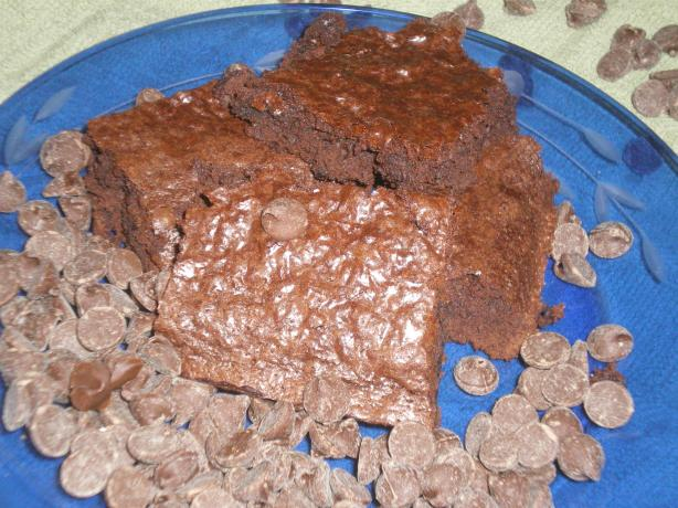 Light Double Chocolate Chip Brownies
