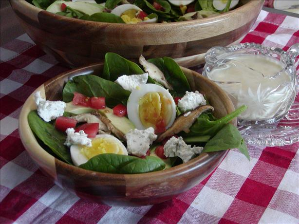 Basil Spinach Salad With Lime Vinaigrette