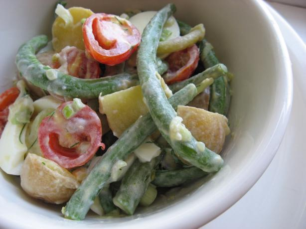 Potato-Green Bean Salad With Cucumber Dressing