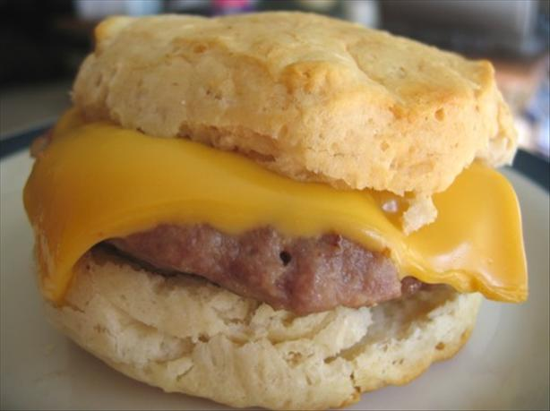 Mini Sausage & Cheese Breakfast Biscuit Sandwiches