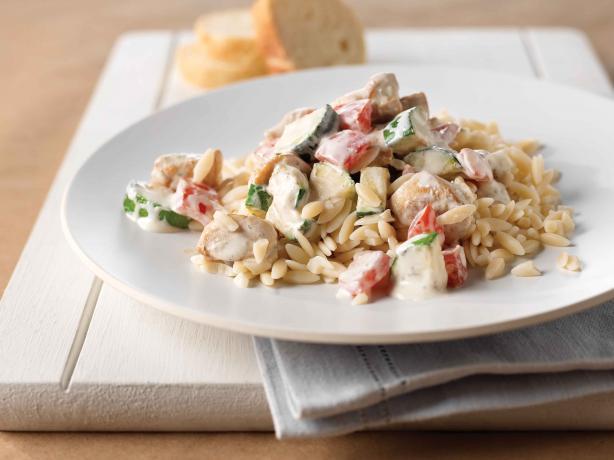 Creamy Italian Chicken & Orzo Skillet