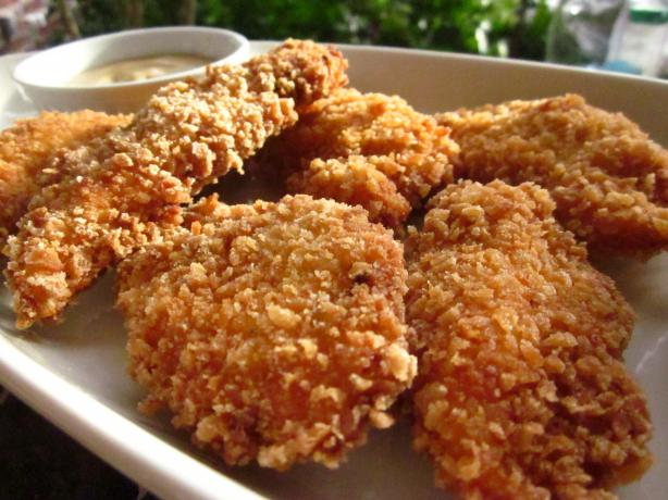 Crispy Chicken Tenders With Honey Mustard Sauce