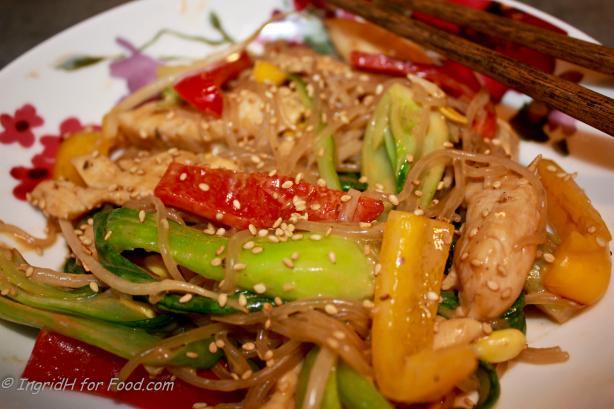 Spicy Peanut Pork W/Rice Noodles