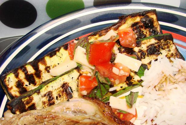 Grilled Zucchini With Caprese Salsa