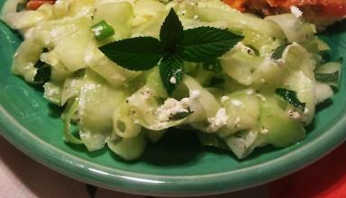 Cucumber Mint Salad With Goat Cheese