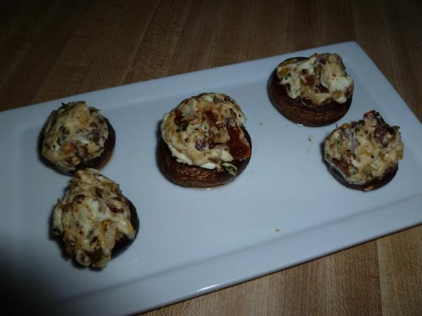 Bacon, Onion, & Cream Cheese Stuffed Mushrooms