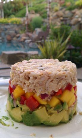 Crab Avocado Mango Stack