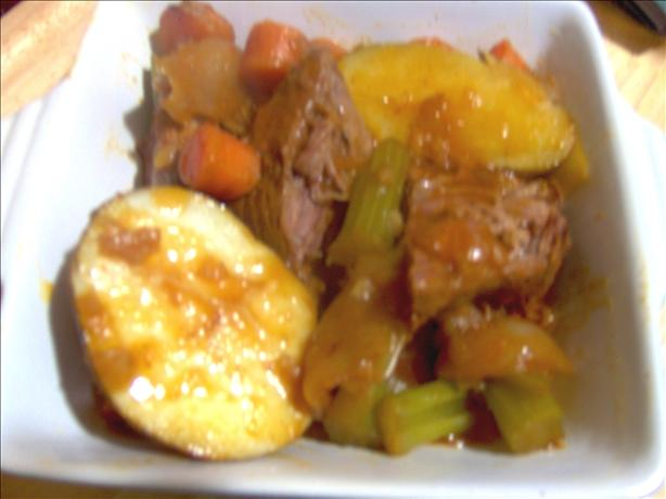Bloody Mary Pot Roast Dinner