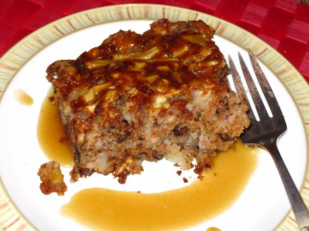 October Apple Cake With Hot Caramel Sauce