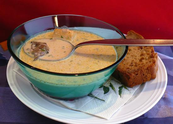 Smoked Oyster and Mushroom Soup