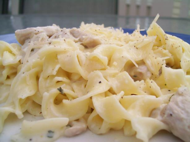 Quick and Easy Chicken in a Parmesan White Sauce