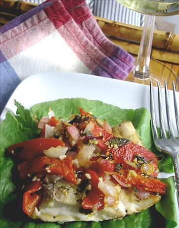Egyptian Red Snapper in Red Pepper Mint Sauce