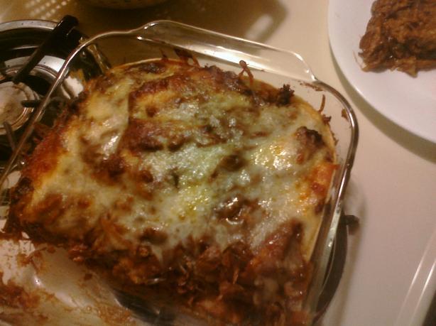 Chicken Mole 'lasagna'.....easy and Good!