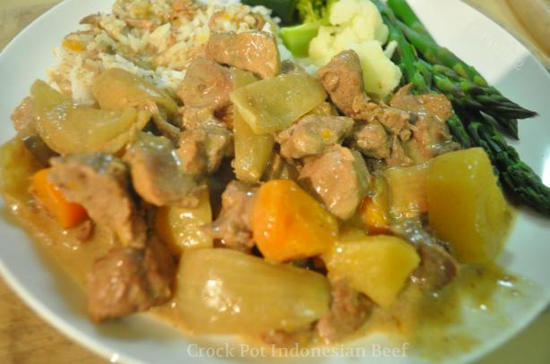 Crock Pot Indonesian Beef