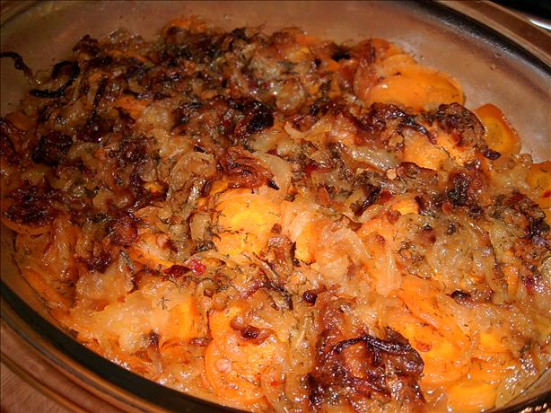 Baked Carrots With Caramelized Onions