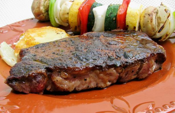 Pan-Fried Rib Eye Steaks