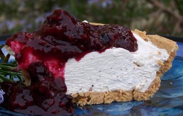 Lavender Vanilla Cream Cheese Pie