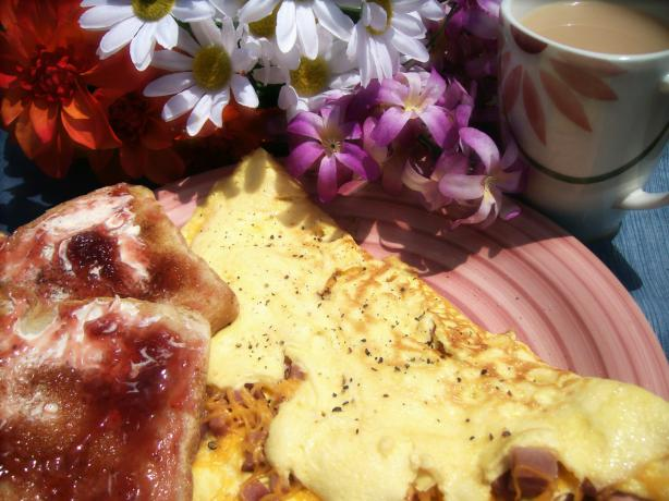 Canadian Bacon & Cheese Omelet