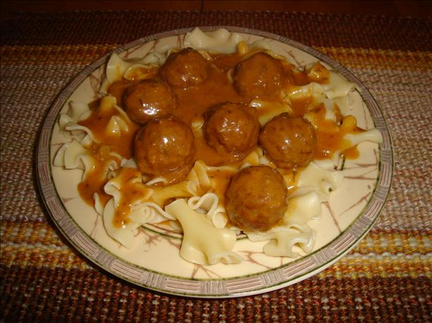 Meatballs in Hungarian Sour Cream Gravy