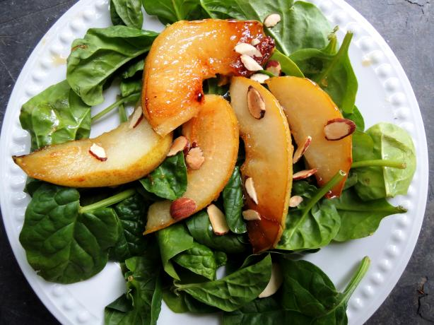 Caramelized Pear and Toasted Almond Salad