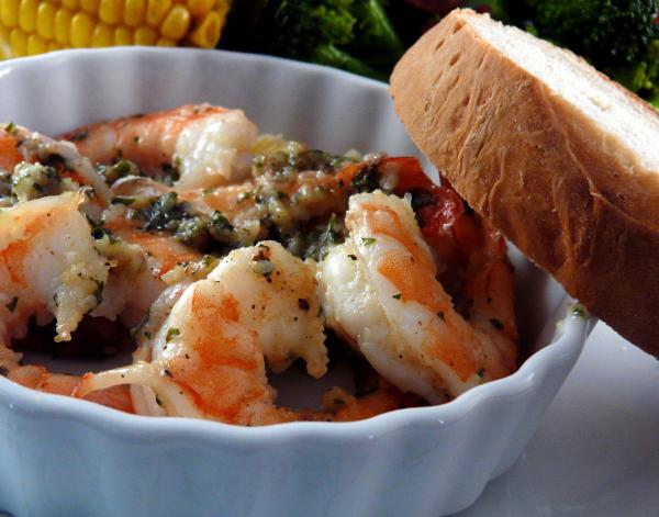 Diabetic Shrimp Scampi