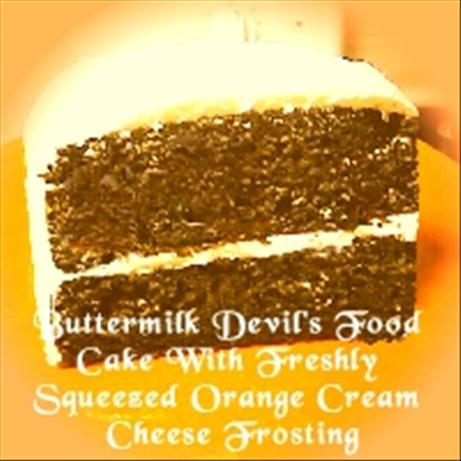 Buttermilk Devil's Food Cake With Freshly Squeezed Orange Cream Cheese Frosting