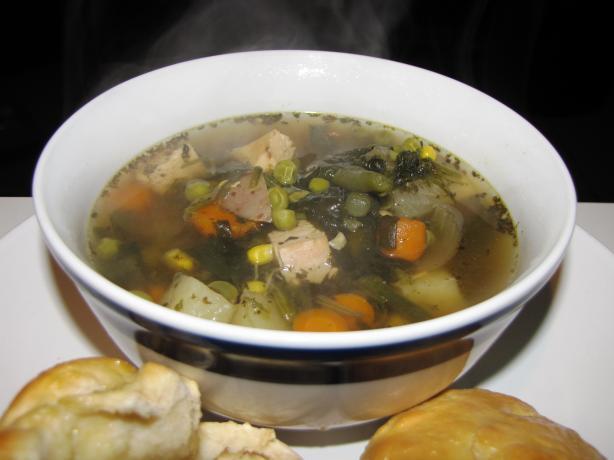 Lots of Veggies Crock Pot Chicken Soup