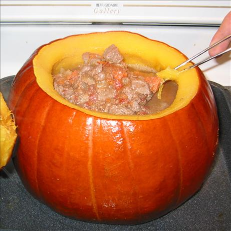 Beef Stew in a Pumpkin