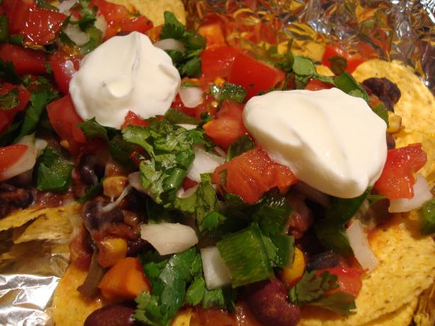 Quick and Easy Black Bean Nachos Vegetarian