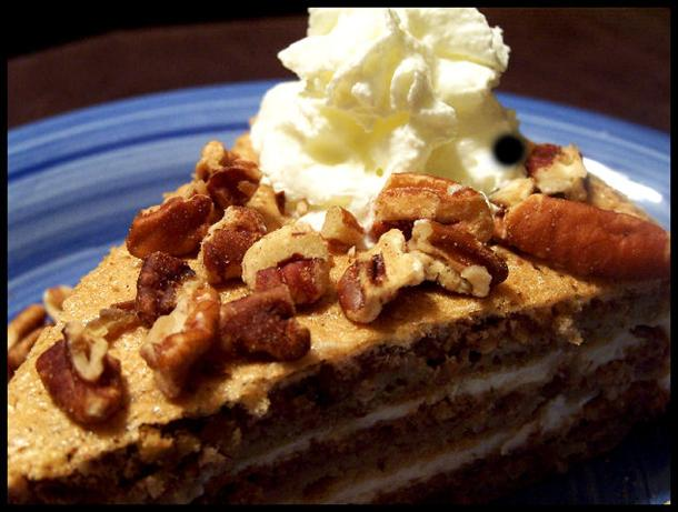 Austrian Walnut Torte With Coffee Whipped Cream