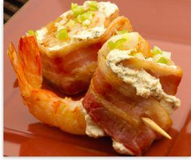 Alouette Bacon Wrapped Scallops and Shrimp