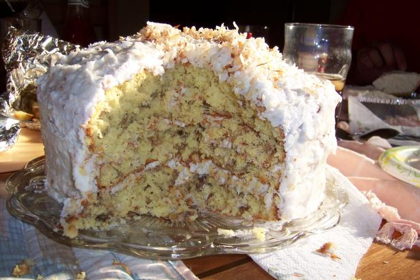 Rogene's Coconut Cake With Coconut Cream Cheese Frosting