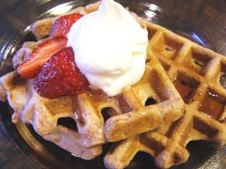 Good for You Strawberry Waffles