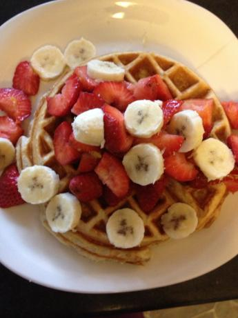 Tasty Low Fat, Multigrain Strawberry Orange Waffles