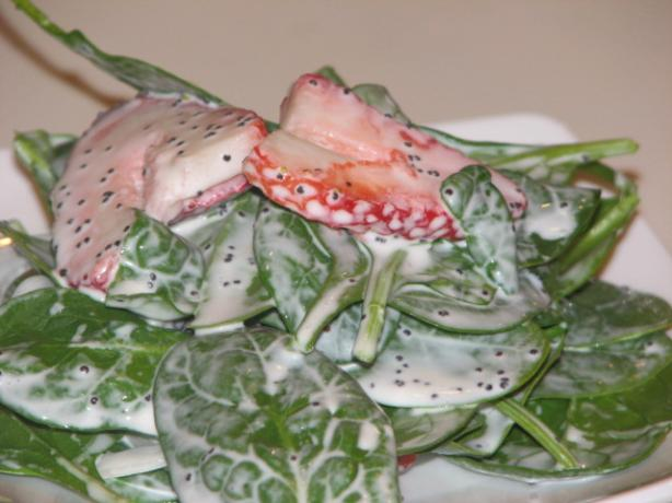 Strawberry Spinach Salad With Sweet Mayo Dressing