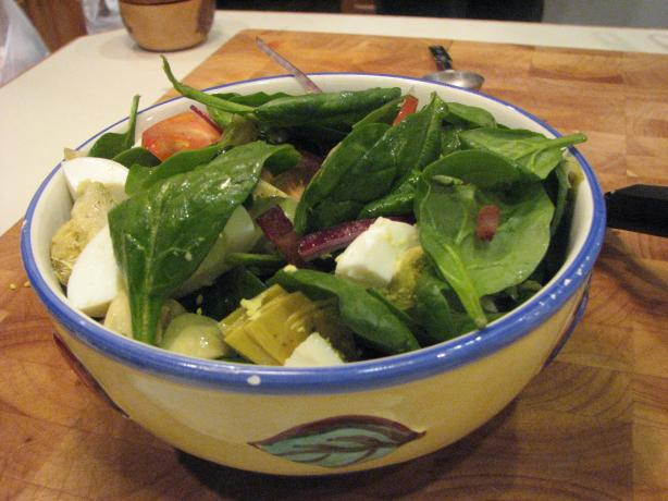 German Spinach Salad With Hot Bacon Dressing
