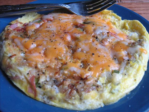 Cheesy Egg Potato and Ham Frittata Brunch Casserole