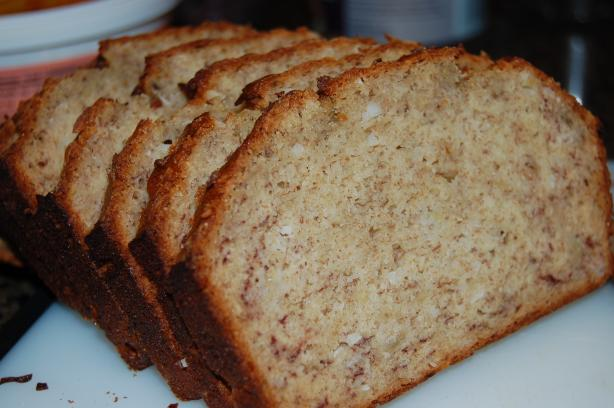 Glazed Coconut Banana Bread