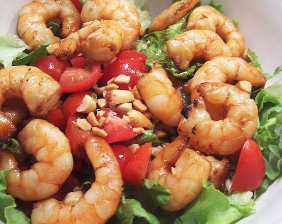 Broiled Shrimp With Honey-Sesame Sauce