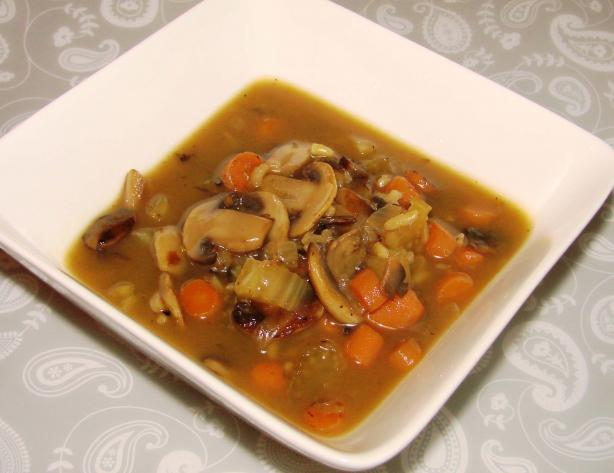 Low Fat Mushroom and Wild Rice Soup