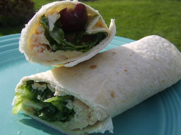 Grape Chicken Caesar Wrap