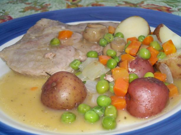 Pork Steak Dinner in a Dish