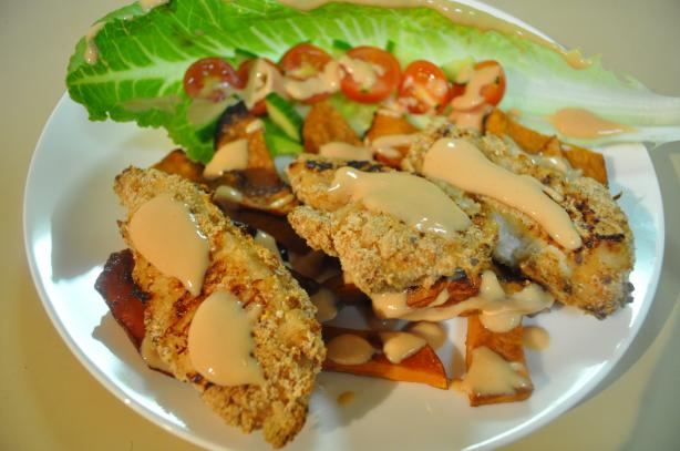Crumbed Chicken & Roast Sweet Potato Salad