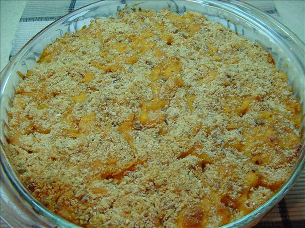 Baked Macaroni Tomatoes & Cheese