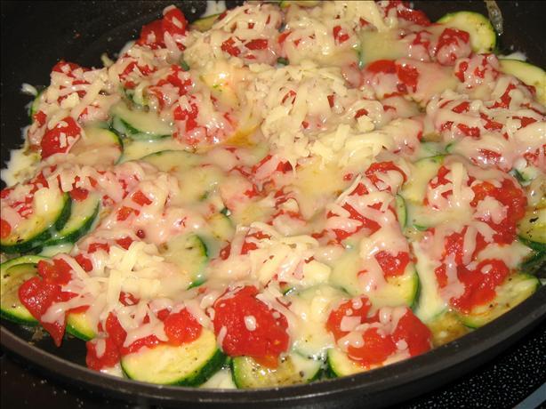 Zucchini & Onions With Mozzarella