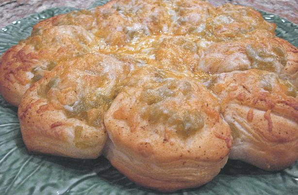 Green Chile 'n Cheese Biscuit Bread!