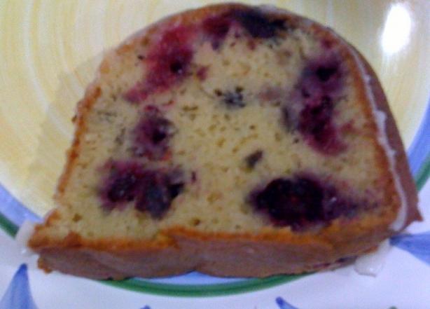 Wonderful Blueberry Pound Cake!