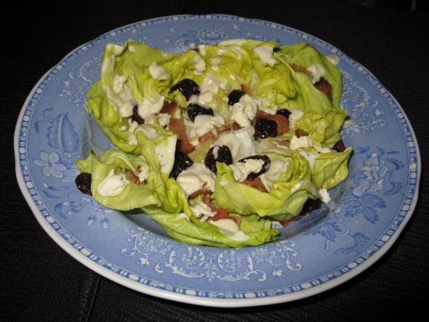 Butter Lettuce Salad With Bacon, Dried Cherries and Roquefort Vi