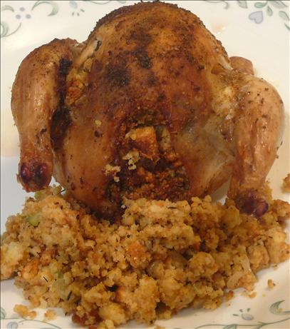 Yankee Girl's Southern Roast Chicken With Cornbread Stuffing